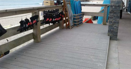ecodek® AT decking for St Ives Surf School