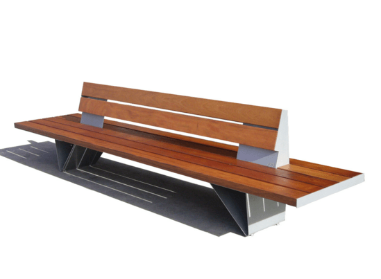 BAN Double bench with backrest