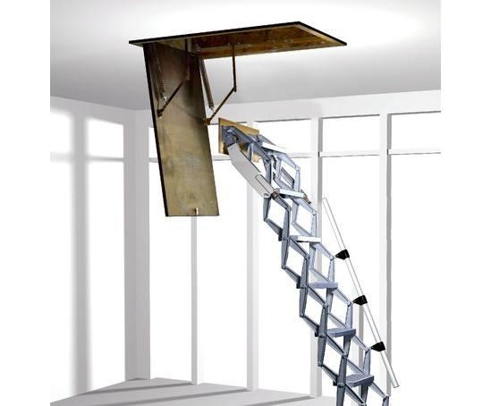 elite concertina aluminium loft ladder premier loft. Black Bedroom Furniture Sets. Home Design Ideas