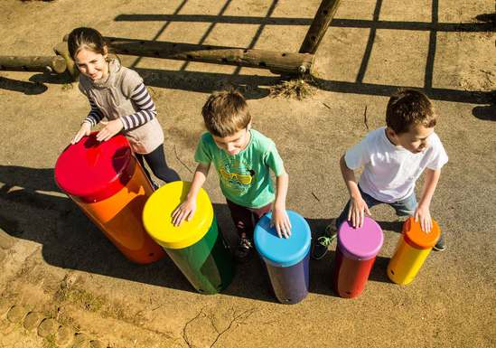 Rainbow Sambas Outdoor Drums
