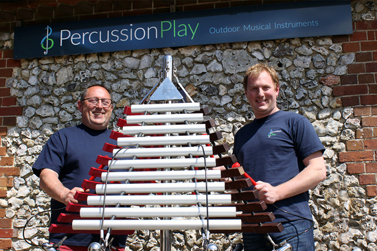 Robin and Jody Ashfield of Percussion Play Ltd