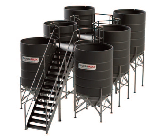 Conical settlement tanks for coal mine water treatment