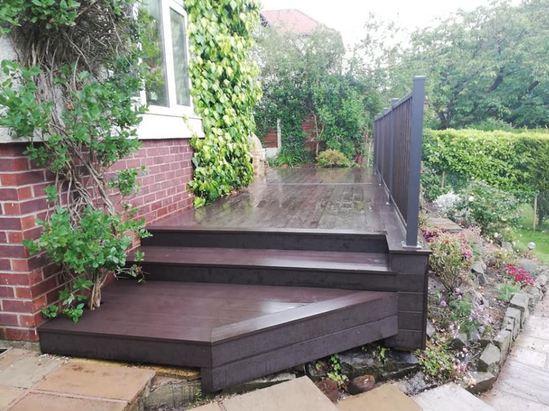 SAiGE coffee coloured composite decking