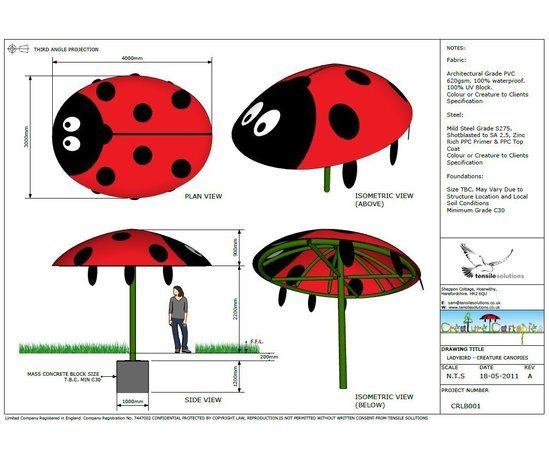 Creature Canopies - Ladybird GA