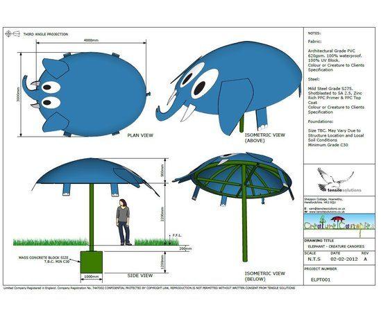 Creature Canopies - Elephant GA