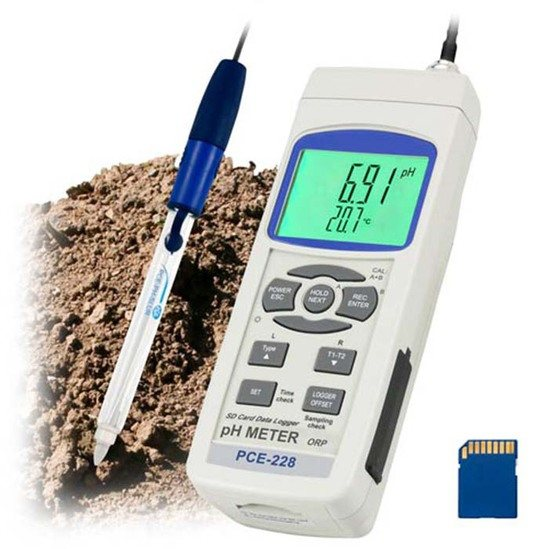 PCE-228SLUR pH meter - one four new PCE-228 versions