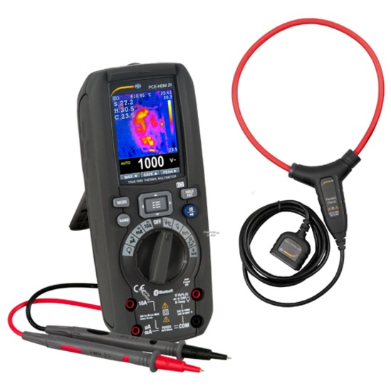 PCE-HDM multimeter with optional current clamp