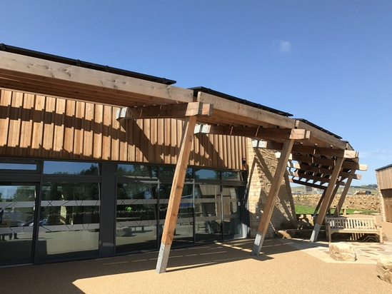 Bespoke timber covered walkway - The Sill