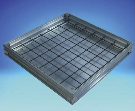 Alucover recessed lightweight aluminium access cover