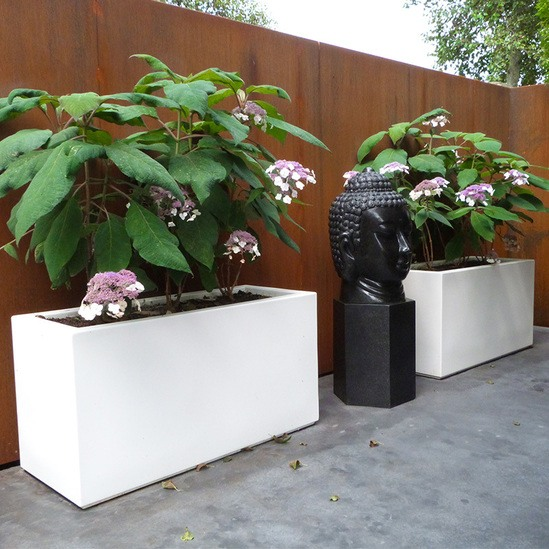 Fibreglass Buxus Trough Planter