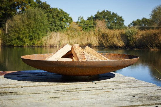 Corten steel fire bowl