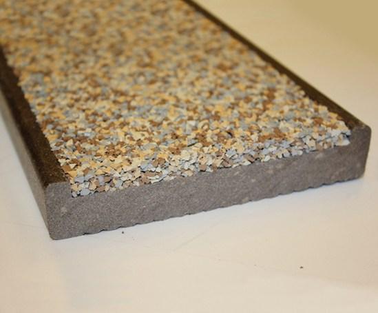 Safadek rubber and composite anti slip decking the for Non slip composite decking