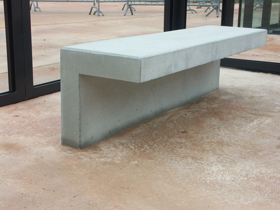 Family architectural cast stone bench