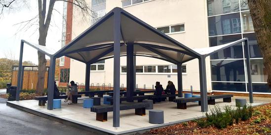 Vela 150 canopy shelter - Cardinal Newman College