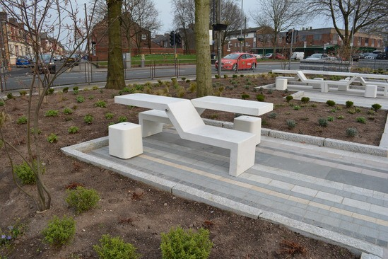 Twin Bench and Mizar seat at Tiber Square, Liverpool