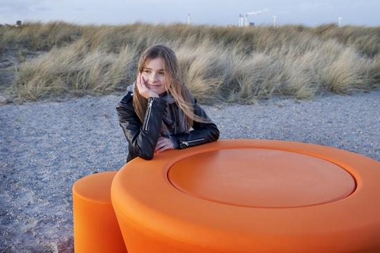 Loop Cone polyethylene outdoor table