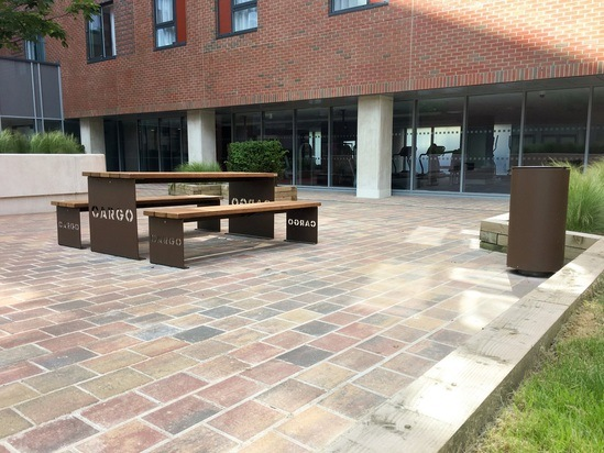 Picnic table and bench - Baltic Triangle