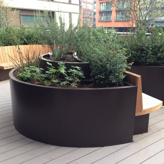 Curved Trough quality GRP planter by Europlanters |Arched Planters
