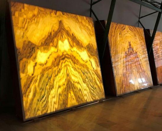 Backlit Translucent Marble