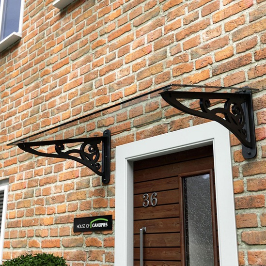 Canopies Canopy And Front Door Glass And: Type J Traditional Scroll Door Canopy