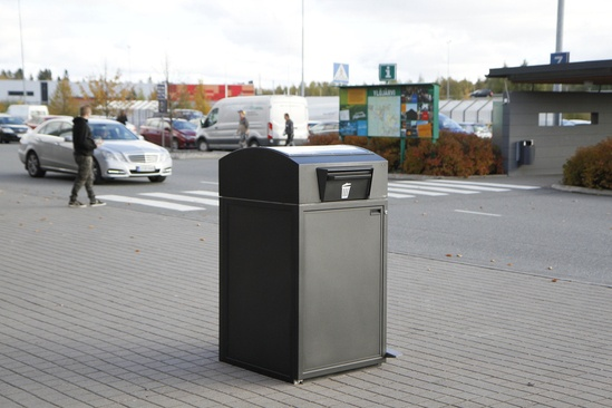 City Solar smart bin - FinBin