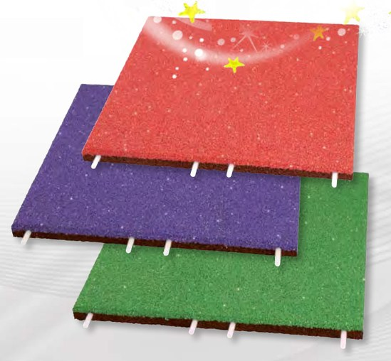EPDM Glitter impact protection slabs for play areas