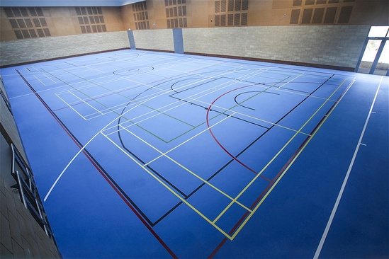 Sports hall with TVS Polyurethane Sports Flooring