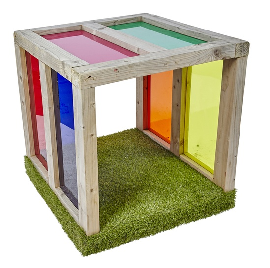 Sensory light cube tunnel with play feature