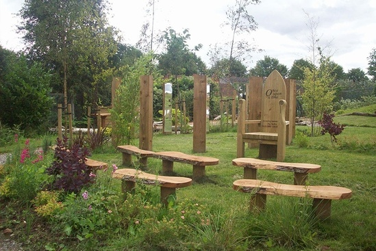 Outdoor classroom at Featherstone Primary School