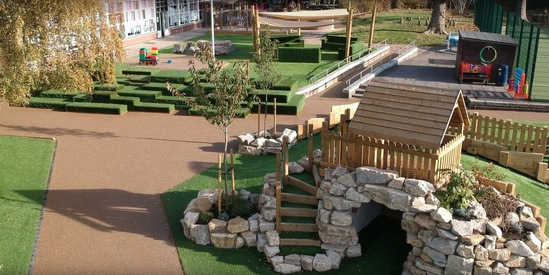 Outdoor play area for London primary school