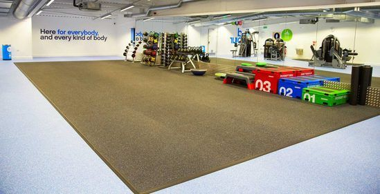 TVS sports and performance flooring for The Gym Group