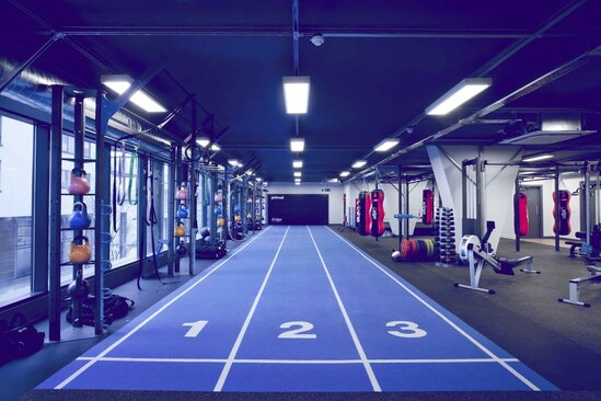 Different areas of gyms require different flooring