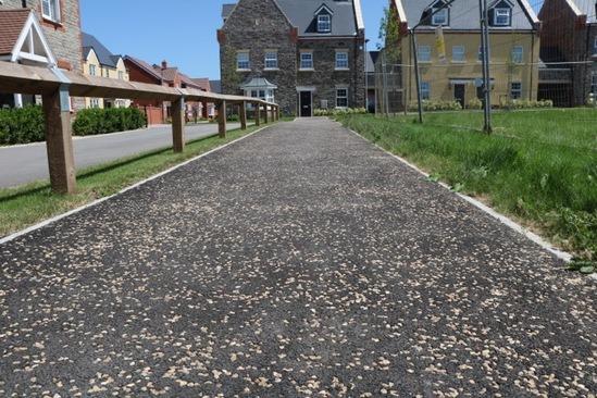 ChipTex decorative paving finish