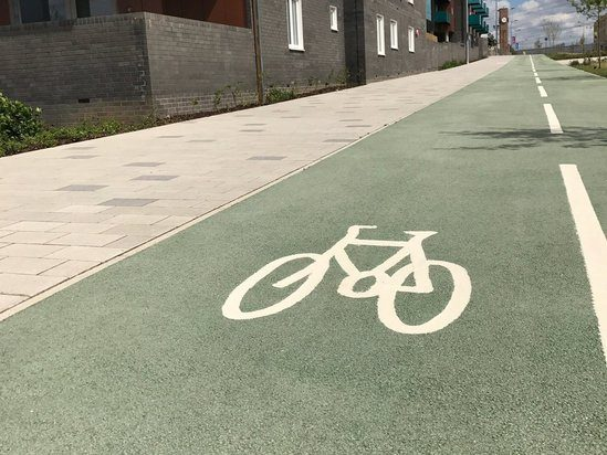 Cycleway surfaced using NatraTex