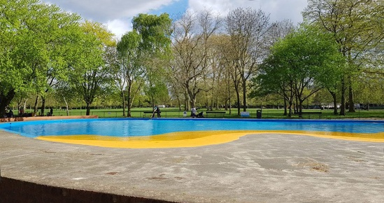 Ravenscourt park water pool lining