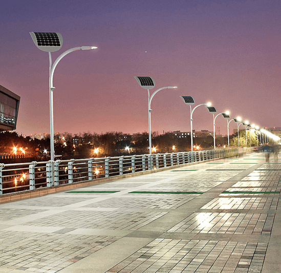 LED street lighting with 205W solar output