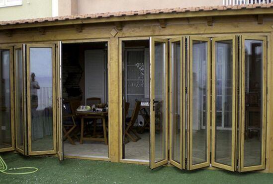 Glass Bi Fold Hardwood Timber Doors