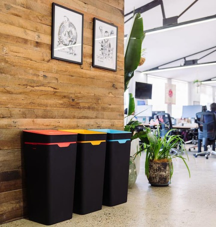 Method office recycling bins for Canva HQ,  Sydney