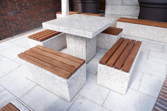 Kerry Concrete Table & Bench