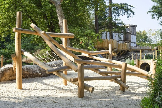 Log Climbing Frame No.2 for children aged 4+ years
