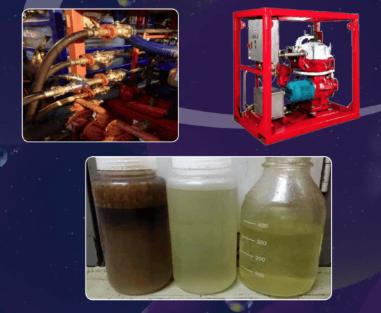 Shutdown clean up liquid oil waste recovery, Muehlhan