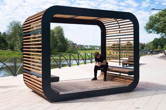 Cube pavilion from Punto Design