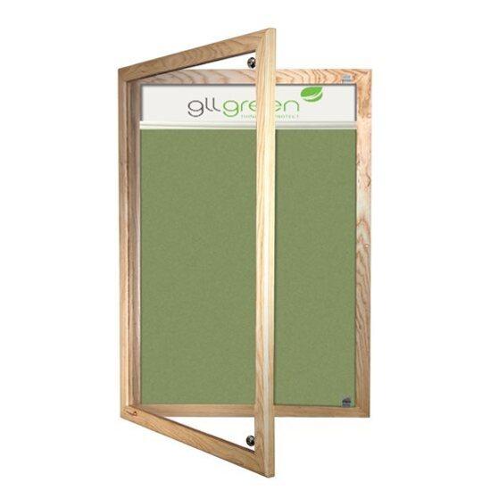 Wood Frame Lockable Forbo Notice Board