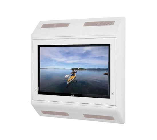 Wall-mounted anti-ligature TV cabinet