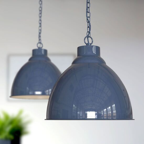 Oxford Pendant Lights - Leaden Grey Slate