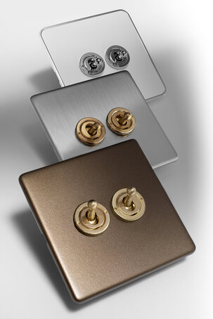 Fusion unique blend of metals sockets and switches,