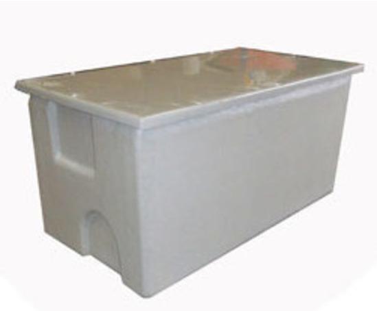 One piece GRP F&E pre-insulated storage tank