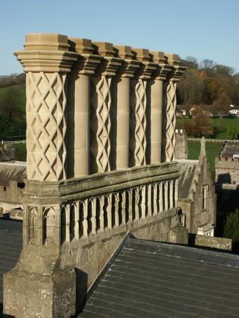Conishead Priory, chimney detail