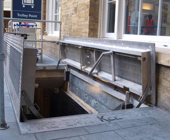 Bespoke floor access doors at King's Cross Station