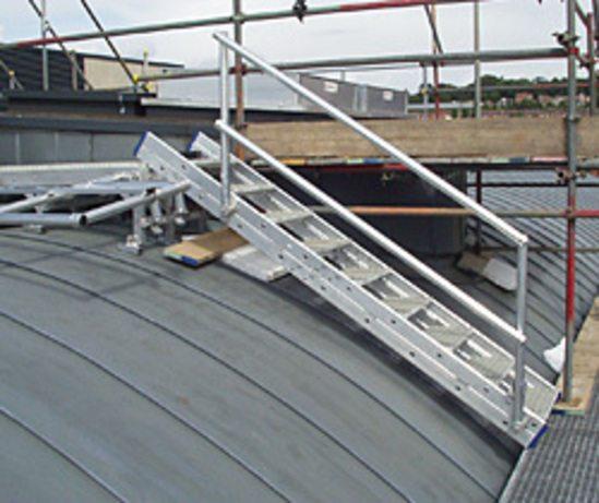Aluminium roof mounted walkway